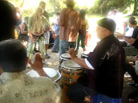 Griffith Park drum circle
